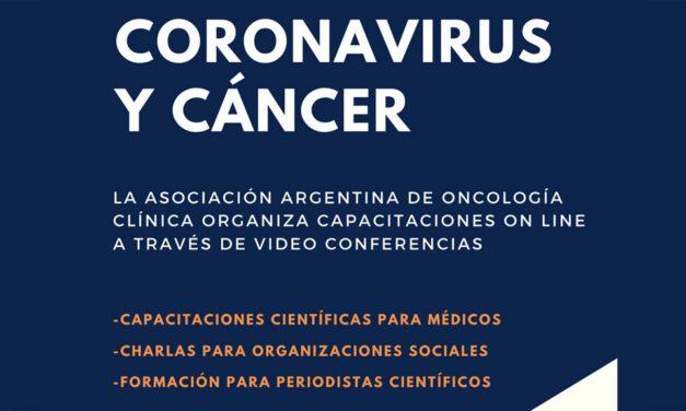 Coronavirus y cáncer: capacitaciones por videoconferencias