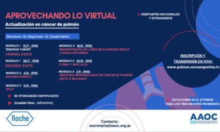 «Aprovechando lo virtual» Actualización en cáncer de pulmón