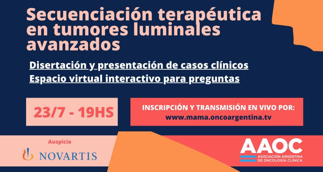 """Webinar: """"Secuenciación terapéutica en tumores luminales avanzados"""""""