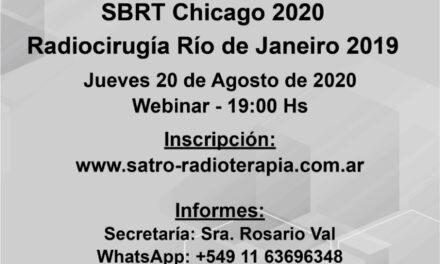 SBRT Chicago 2020 – Radiocirugía Río de Janeiro 2019
