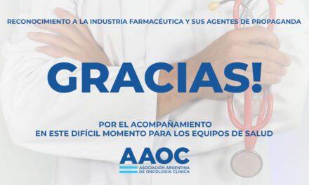 Agradecimiento de la AAOC
