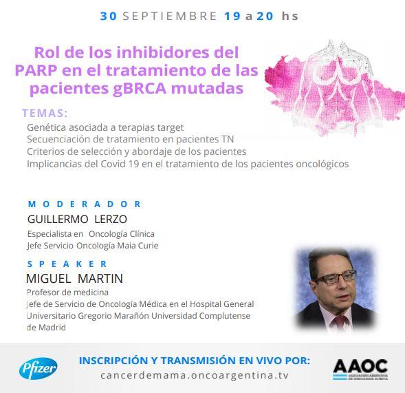 Rol de los inhibidores del PARP en el tratamiento de las pacientes gBRCA mutadas