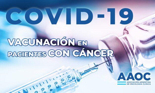 Vacunación para COVID-19 en pacientes con cáncer