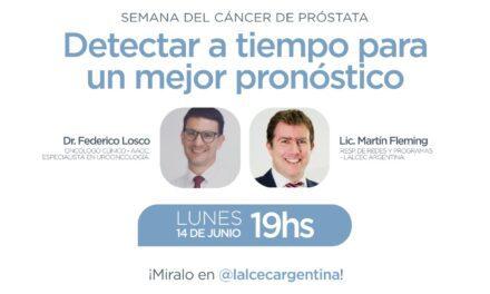 Cáncer de Próstata: «Detectar a tiempo para un mejor pronóstico»